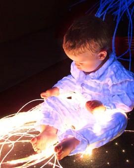 illuminazione sensoriale a fibra ottica