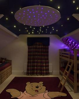 kids bedroom star ceiling rings
